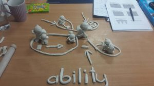 Image showing clay created by Davis student.